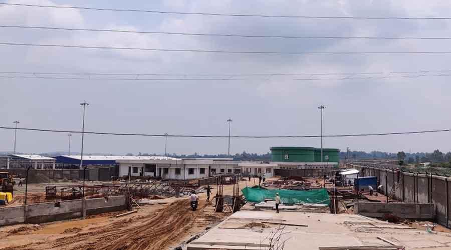 The HPCL bottling plant under construction in Hazaribagh.