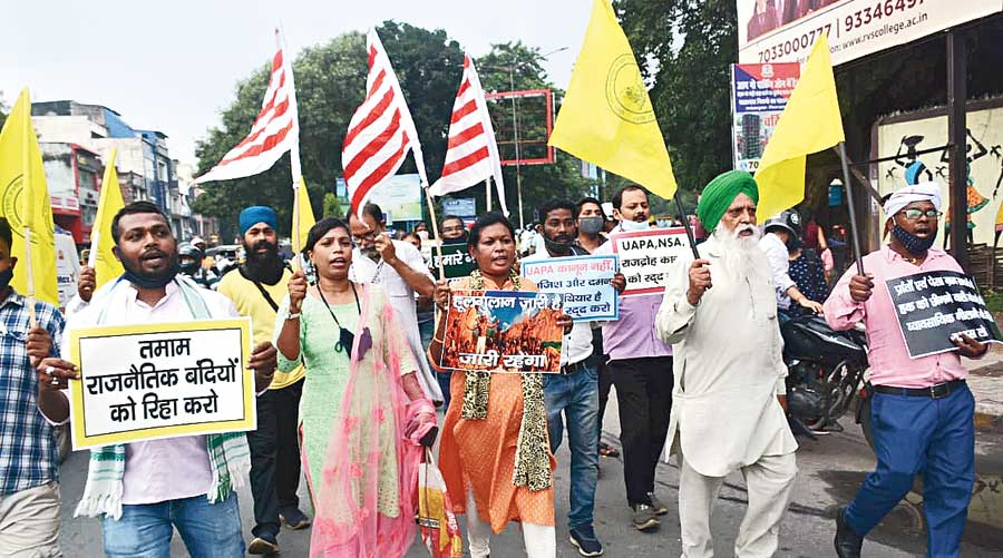 Protest against Centre in Jharkhand