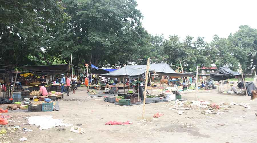 The district board ground of one of the proposed vending zones in Dhanbad on Wednesday.