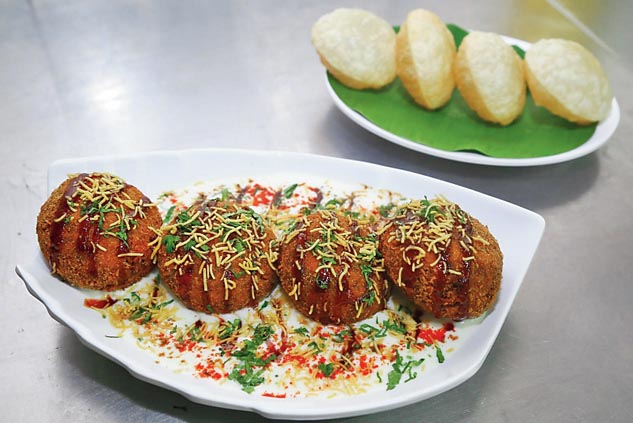 The Dahi Vada recipe is from What's Up! Cafe, located on Southern Avenue, opposite Nazrul Mancha