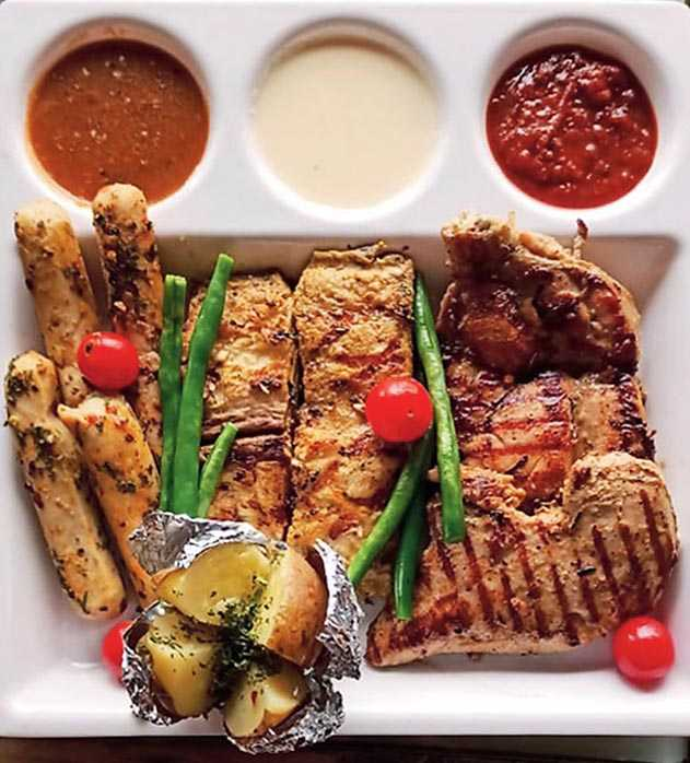 Grilled platter recipe is from What's Up! Cafe, located on Southern Avenue, opposite Nazrul Mancha