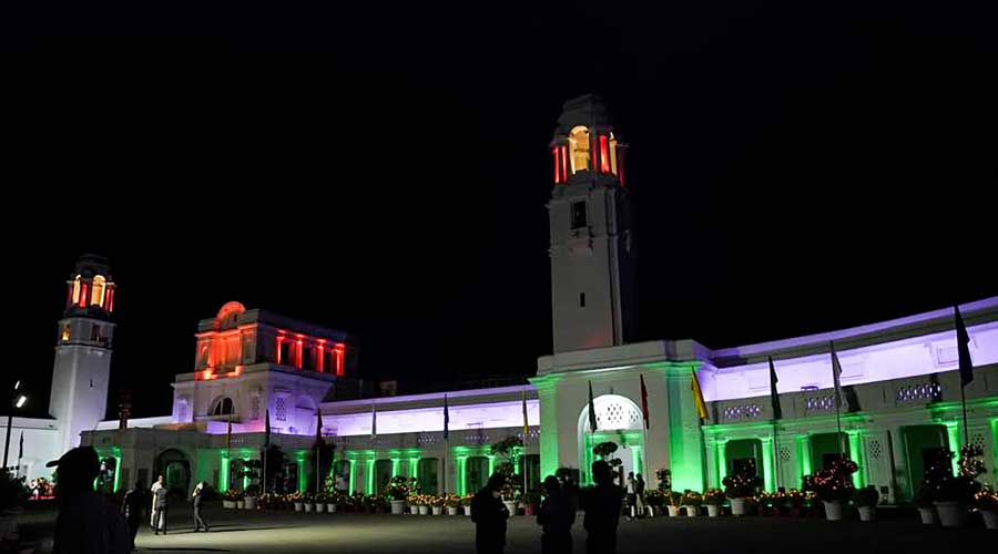 Legislative Assembly illuminates with tricolour on the 75th Independence Day