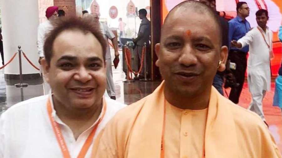 Pawan Monga with Yogi Adityanath