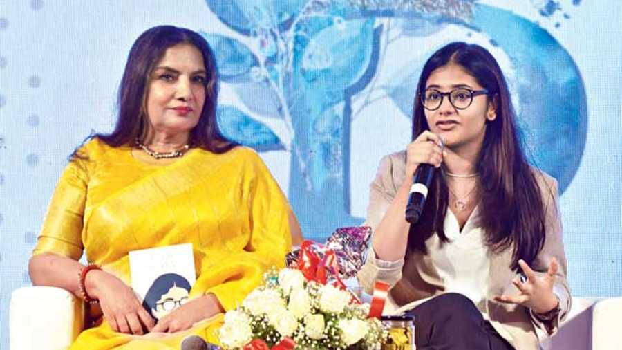 Veteran actor Shabana Azmi with author Brisha Jain