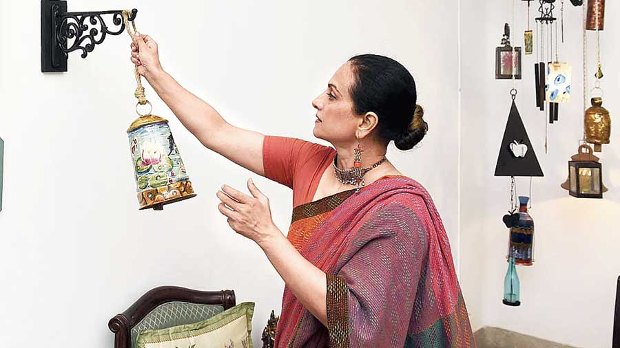 Verma with her creations.