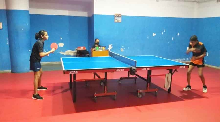 Ultimate table tennis tournament in progress in Jamshedpur last week.