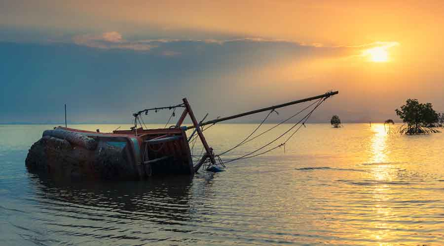 The wreckage of the boat, which was found overturned around 1.5 km downstream of the mighty Brahmaputra, was cut open from the base by NDRF and SDRF divers, but nobody was found inside it