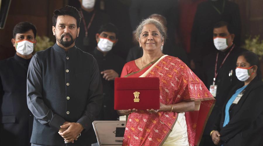 Nirmala Sitharaman presents the Union Budget 2021-22.