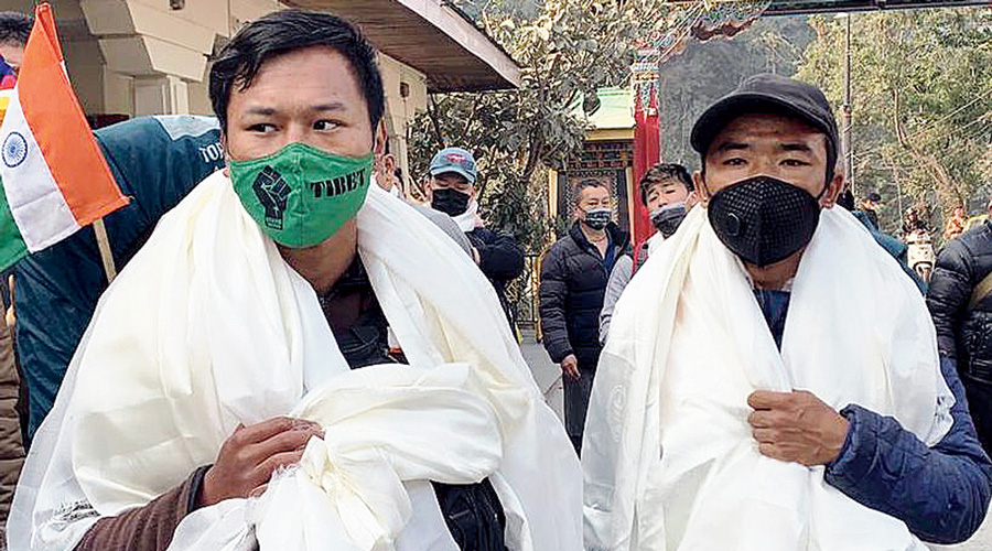 The two Tibetan youths in Sikkim.