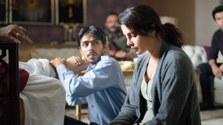 Priyanka Chopra Jonas and Adarsh Gourav in The White Tiger, now streaming on Netflix