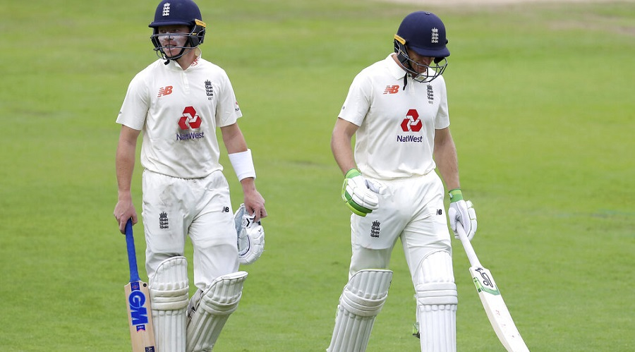 Ollie Pope with Jos Buttler