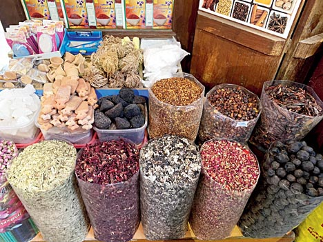 Dubai spice Souk is a collection of spices from around the world.