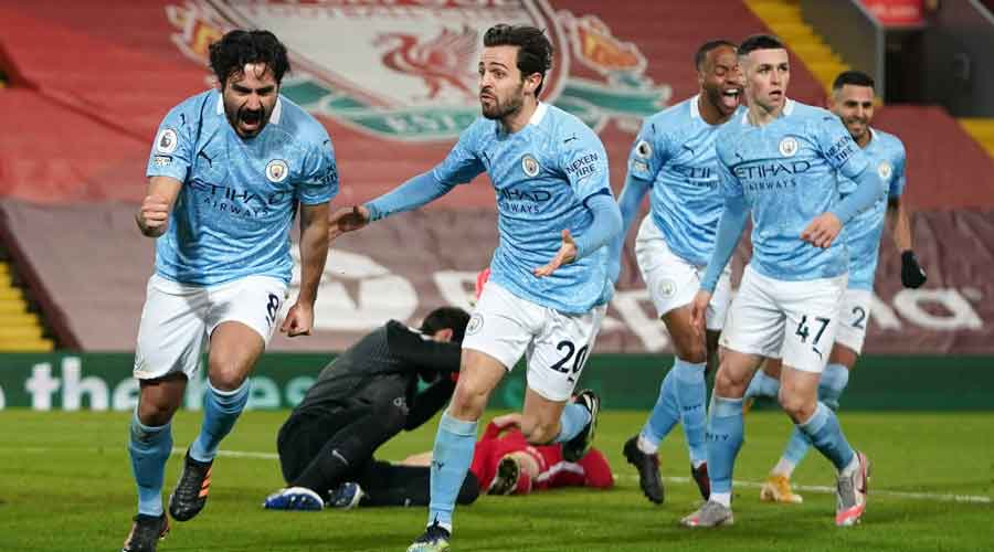 Gundogan missed a first-half penalty but made up for that by firing City ahead four minutes after the break only for Mohamed Salah to equalise from the spot just past the hour mark, Liverpool's first goal at home this year