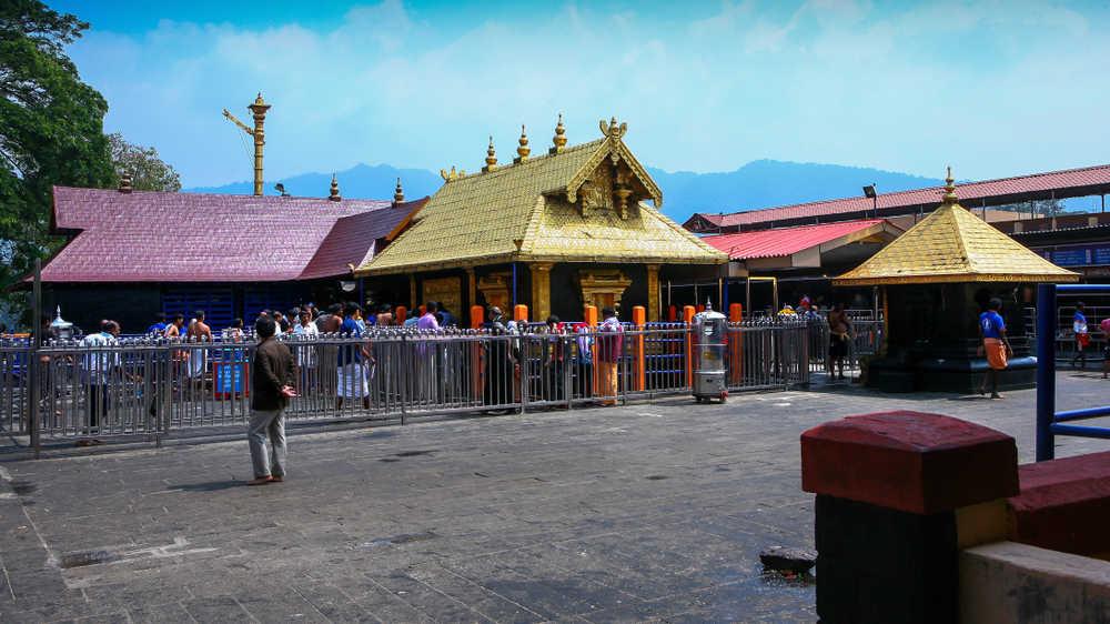 The Ayyappa temple at Sabarimala, Kerala.