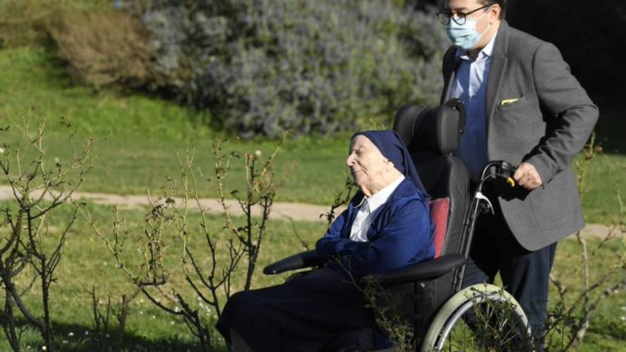 """Sister André has lived through the 1918 flu pandemic, two world wars and """"many sad events"""""""