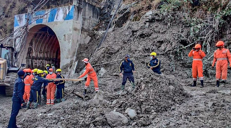 Six bodies were found from Raini upstream and one from the riverbank in Rudraprayag.