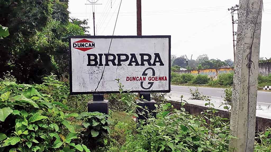 The entrance to the Birpara tea estate