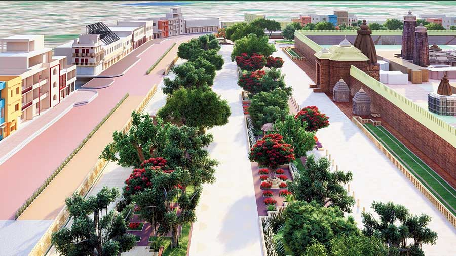 An artist's impressions of the proposed Shree Jagannath Heritage Corridor in Puri