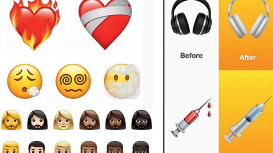 Some of the new and updated emoji characters coming your way in the full release of iOS 14.5