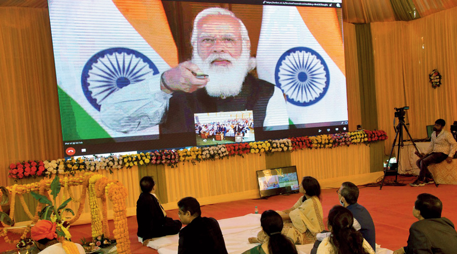 Prime Minister launches the projects in Assam on Thursday  through the virtual mode.