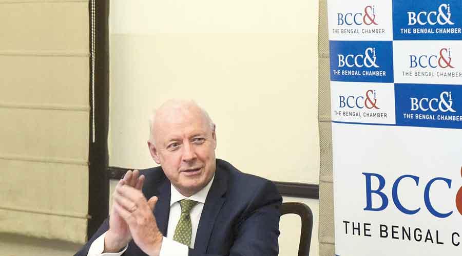Freddy Svane, the Danish ambassador to India, at Thursday's programme