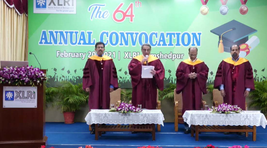 The annual convocation of XLRI being conducted virtually on Saturday evening.