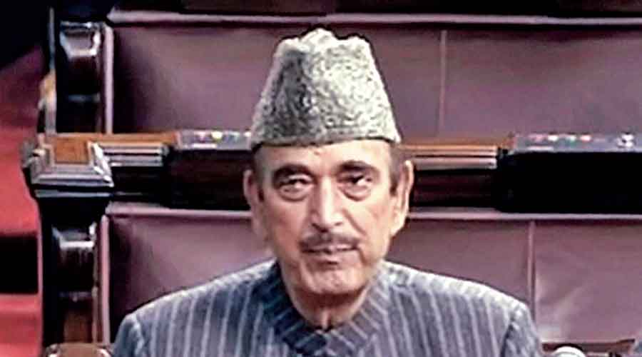 Congress MP Ghulam Nabi Azad speaks at Rajya Sabha during the ongoing Budget Session of Parliament, in New Delhi.
