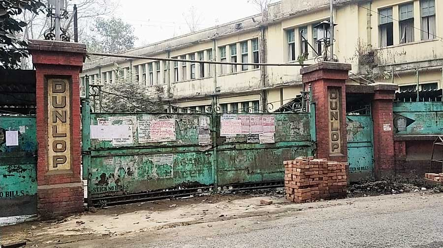 The closed Dunlop factory at in Hooghly.