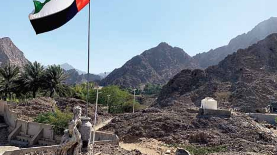 A trek at Hatta leads you up this path