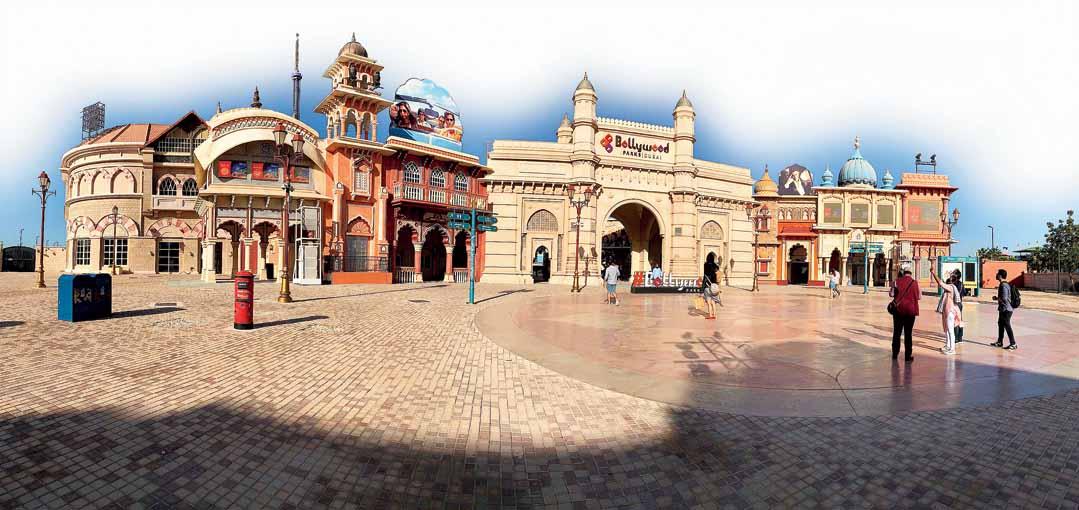 The entryway of Bollywood Parks Dubai