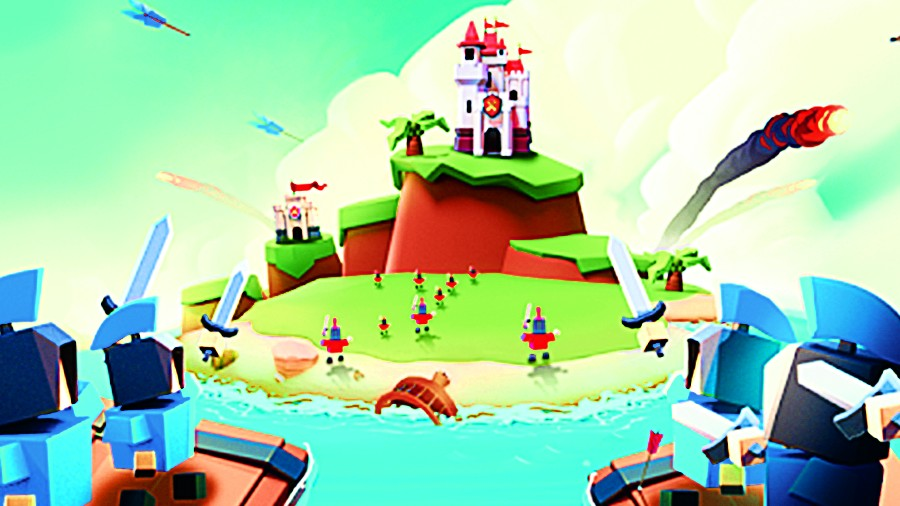 Island War is a multiplayer game where you invade the islands of other real players and capture them