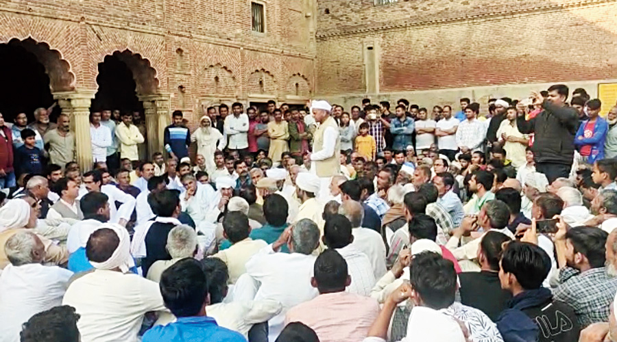 A panchayat being held at Soram village in western  Uttar Pradesh after Balyan left.