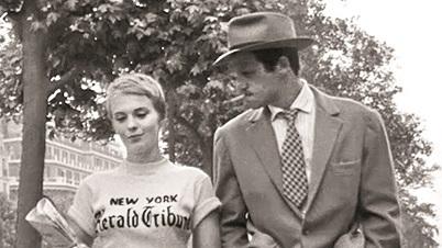 Jean Seberg and Jean-Paul Belmondo in Jean-Luc Godard's 'Breathless' (1960).