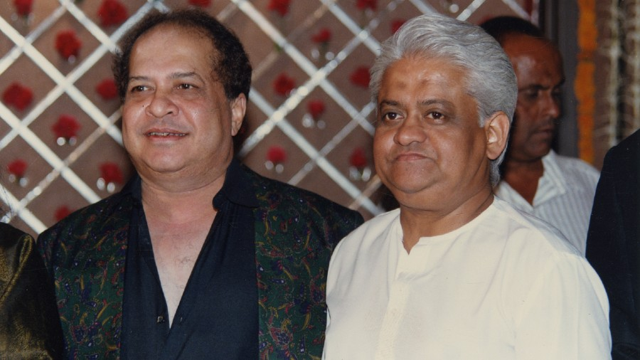 File picture of music director Laxmikant (left) with Pyarelal