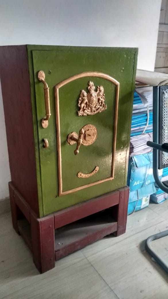 The iron safe of Sir J C Bose, which is yet to be opened.