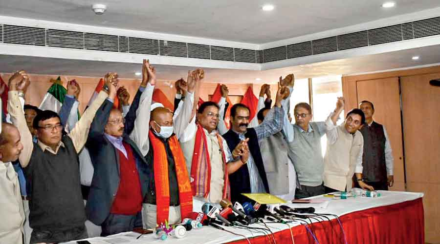 The Congress-led alliance's  show of solidarity after the BPF joined in Guwahati on Sunday