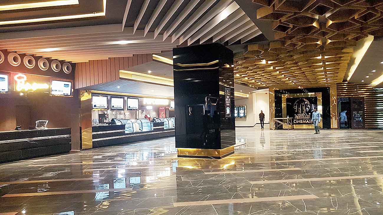 The lobby of the upcoming multiplex in New Town