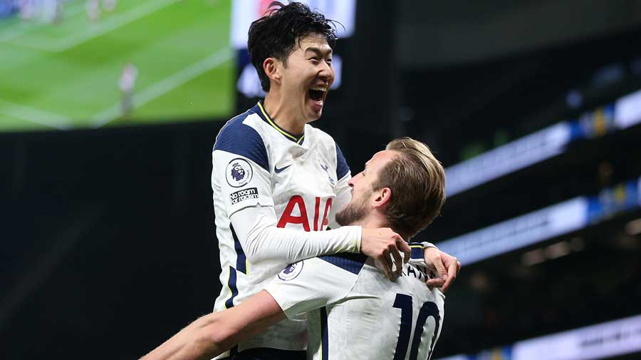 The South Korean doubled Tottenham's tally just before the interval after strike partner Harry Kane's penalty had given the hosts the lead on a crisp winter day in north London.