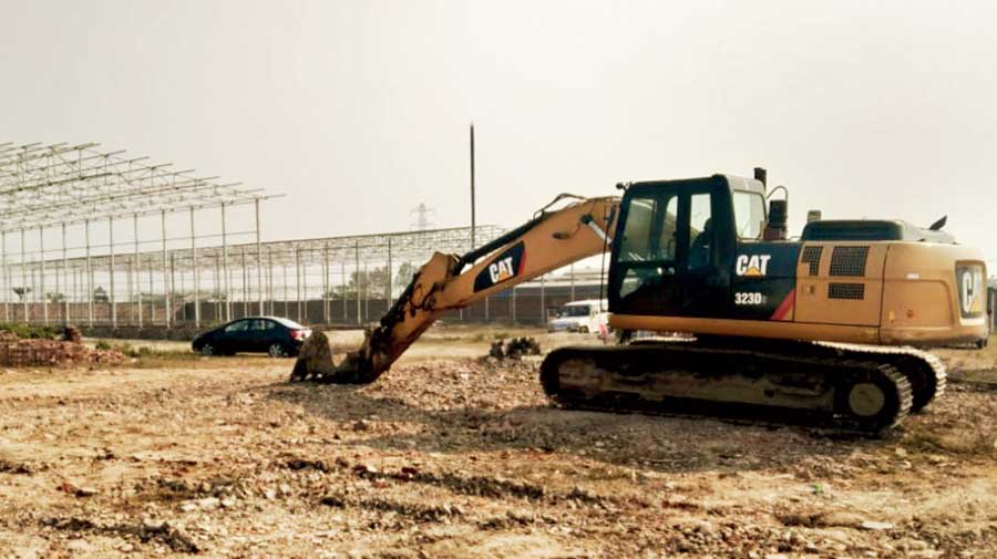The site of the upcoming food processing unit in Nadia's Chakdah on Saturday.