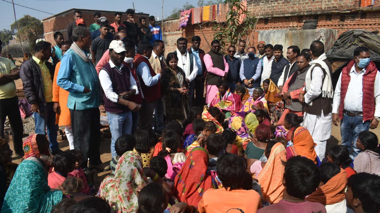 The BJP team visited the deceased house in Palkot in Gumla district.