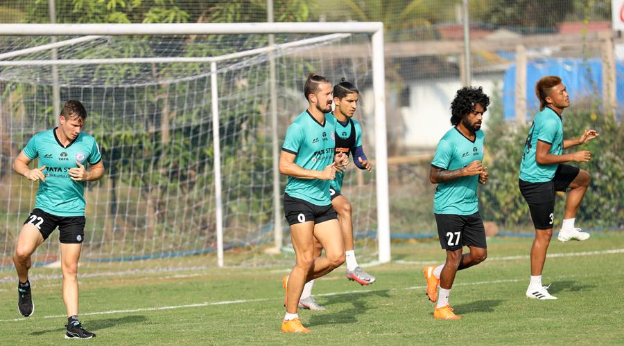 JFC players train in Goa on Sunday.