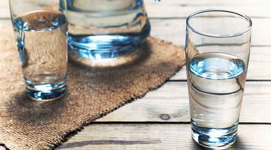 Drink a little water when you feel hungry. Your hunger pangs may actually be thirst.
