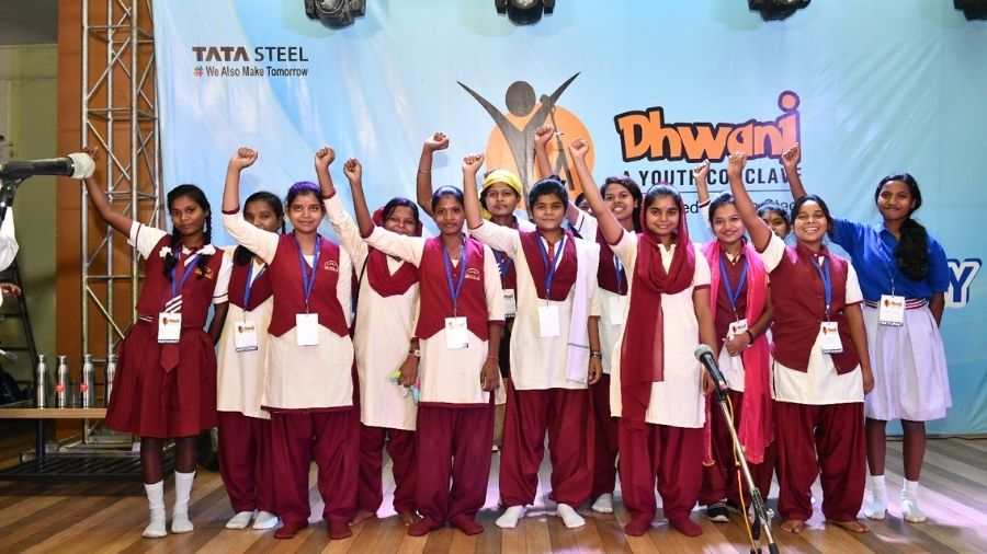 Children participate in third edition of Dhwani at Michael John Auditorium in Bistupur, Jamshedpur, in 2020.
