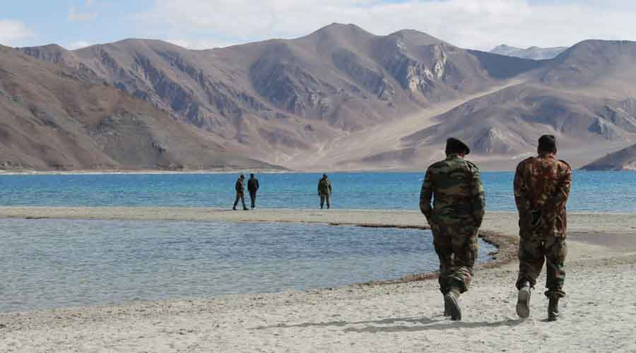 Indian and Chinese troops have since early May been locked in a standoff at multiple points in Ladakh, including the Pangong Lake, Hot Springs and the Depsang Plains.