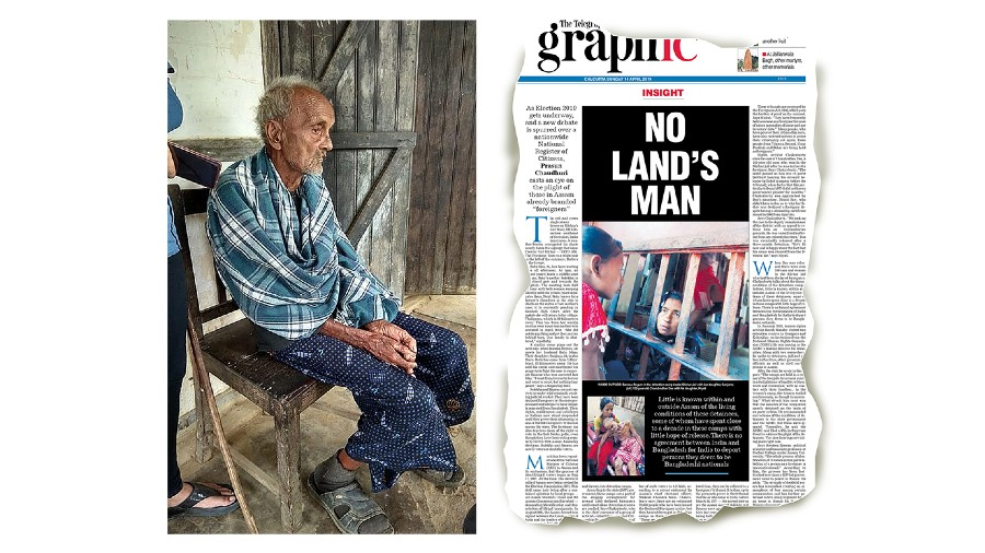 DANGLING MAN: Chandradhar Das a couple of weeks before he died; with his daughter, in our issue of April 14, 2019