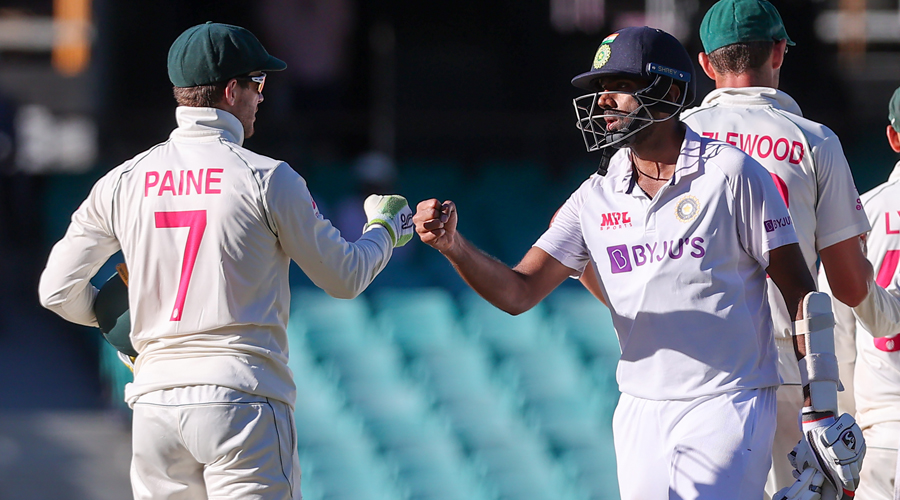 Paine did try to distract Ashwin with his chirping from behind the stumps, reflecting the hosts' growing frustration.