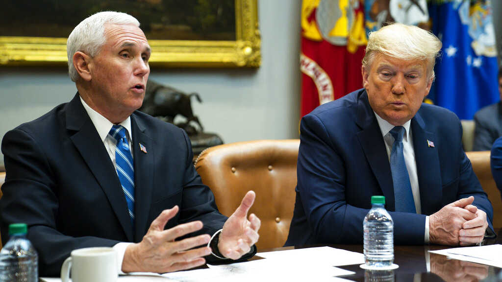 Mike Pence and Donald Trump.