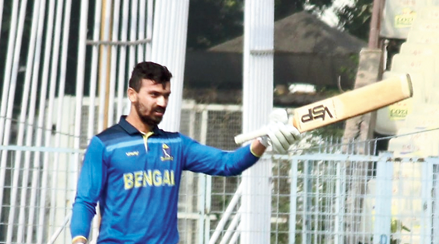 Vivek Singh after his century on Tuesday.