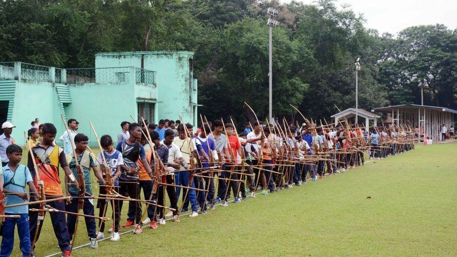 Archers train at the JRD Tata Sports Complex in Jamshedpur.