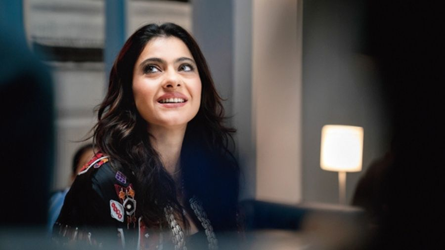 Kajol goes back to the world of books on a Zoom call.